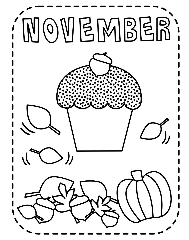 November Coloring Sheets Printable