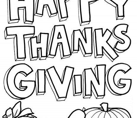 November Coloring Sheets Thanksgiving