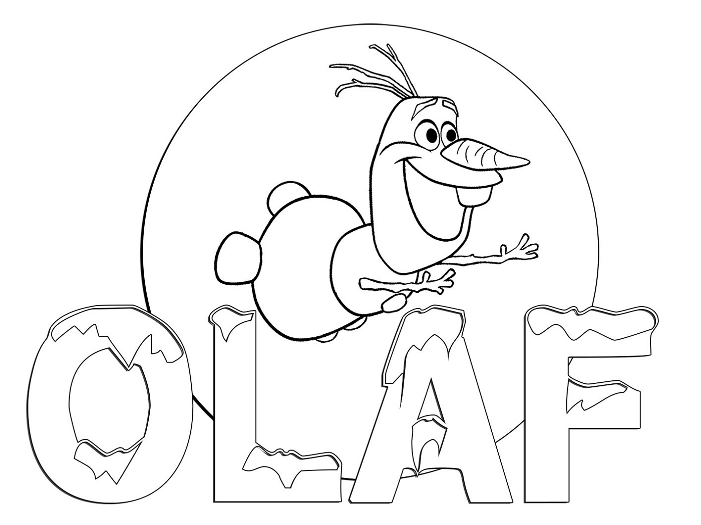 Olaf Coloring Pages Free