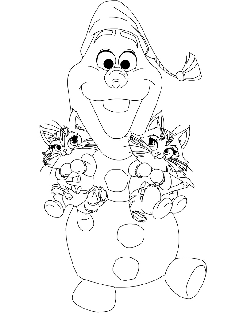 Olaf Coloring Pages Frozen Adventure