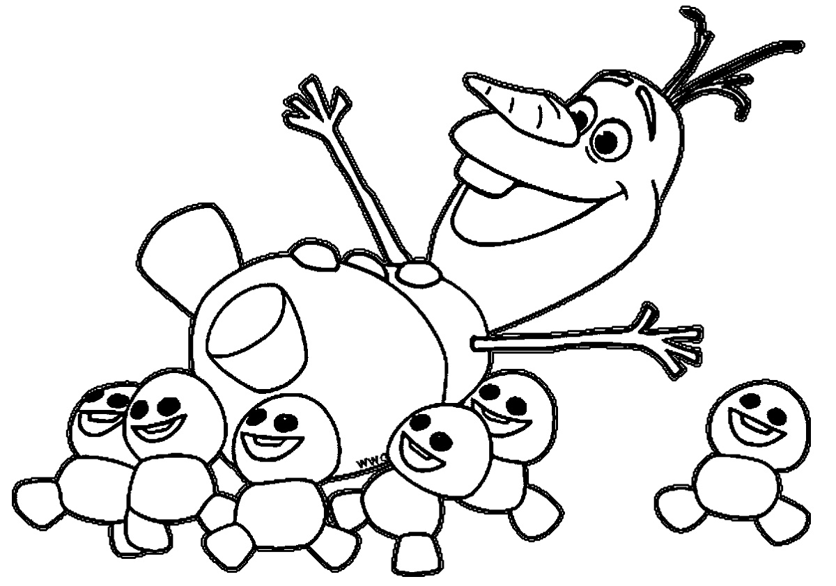 Olaf Coloring Pages Frozen Fever