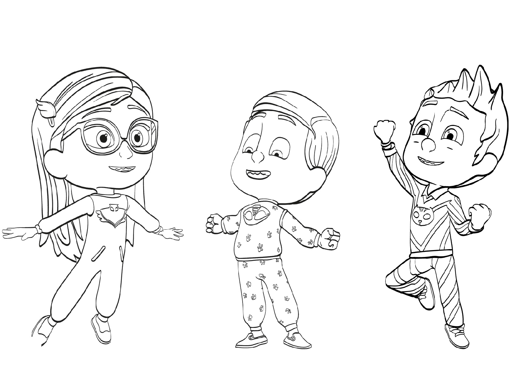 PJ Mask Coloring Pages Pajama Heroes