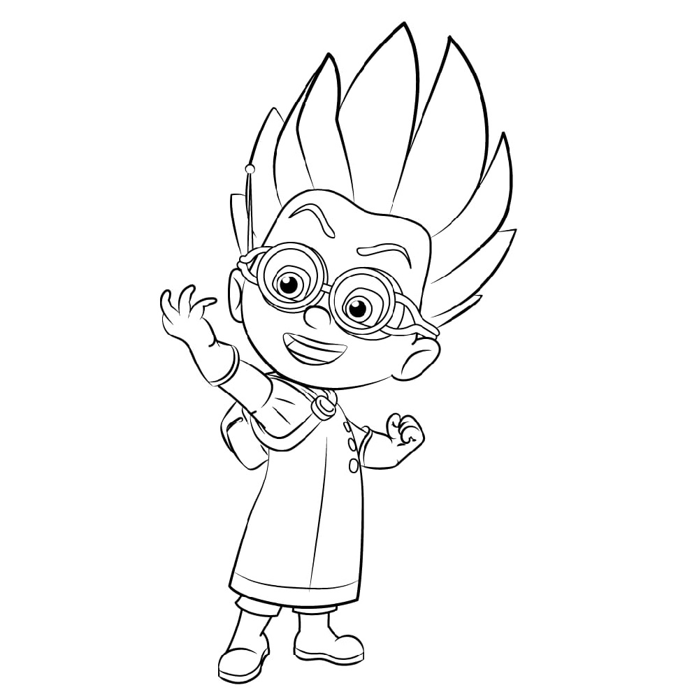 PJ Mask Coloring Pages Romeo