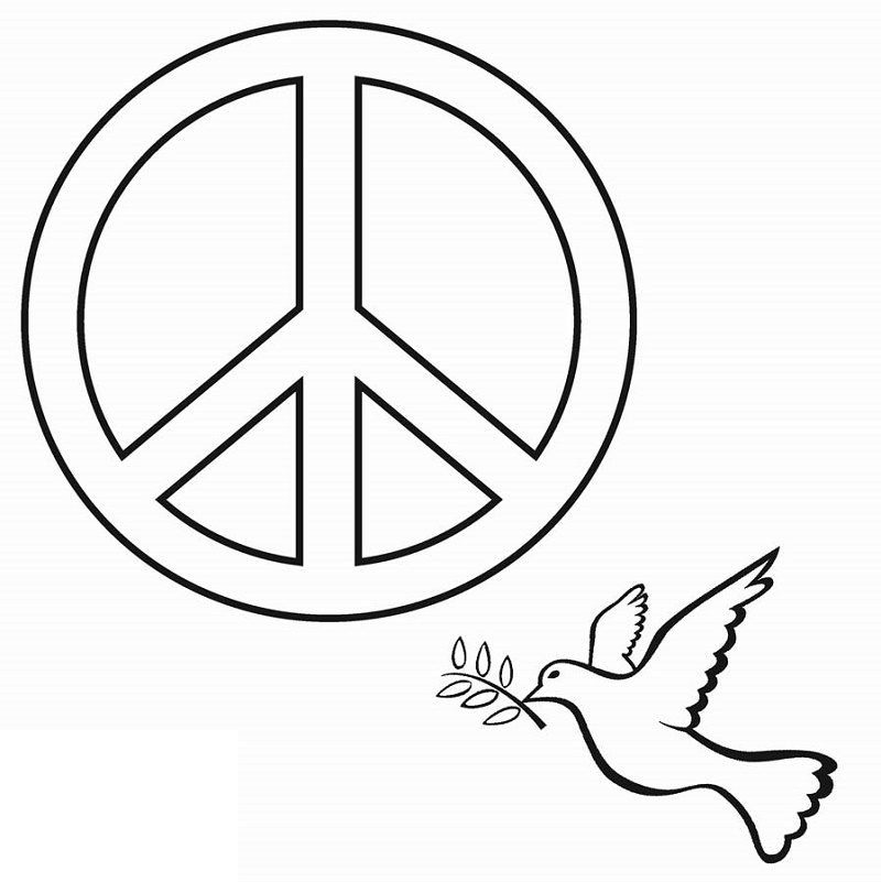 Peace Sign Coloring Pages To Print