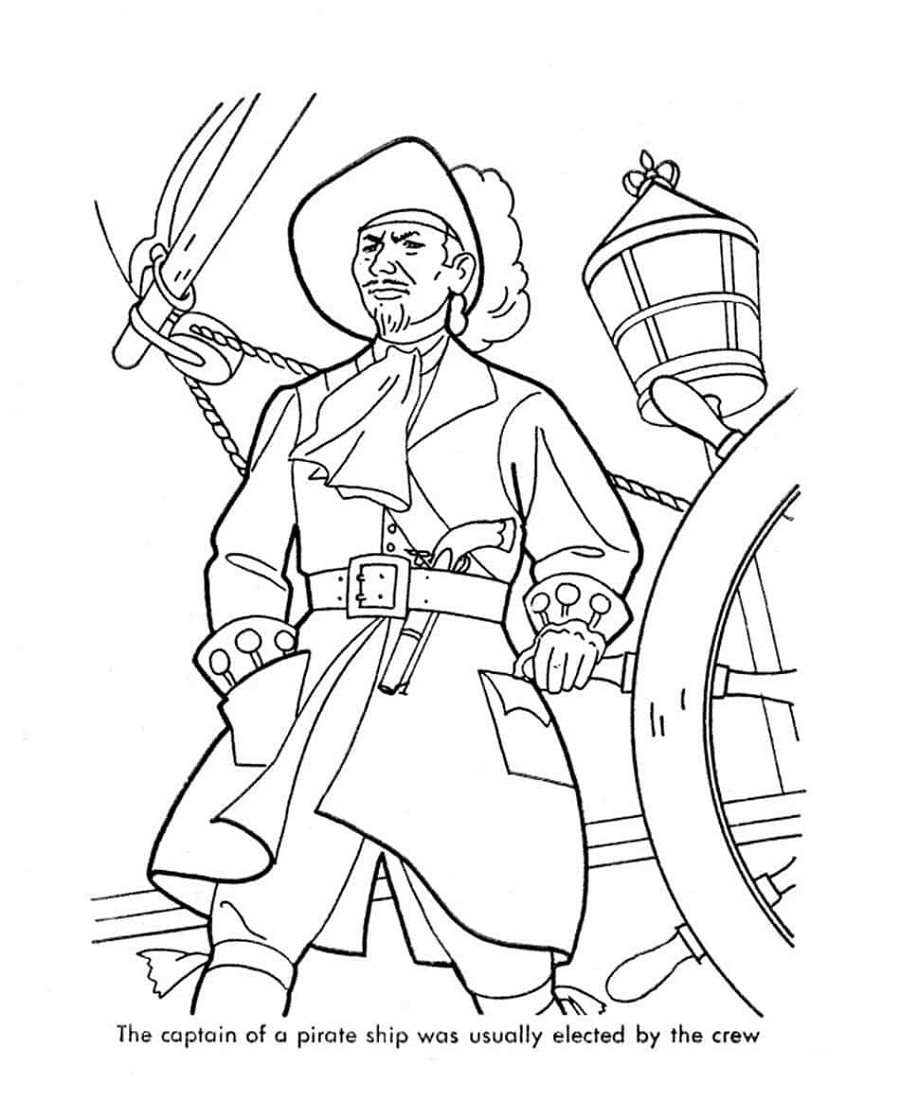 Pirate Coloring Pages For Adults