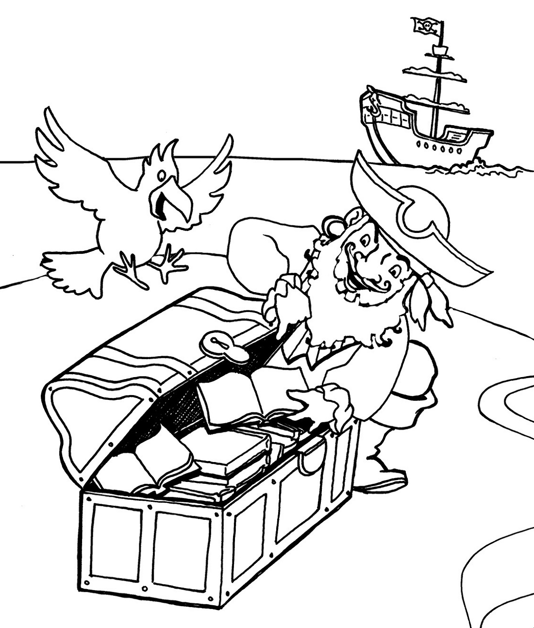 Pirate Coloring Pages For Kids