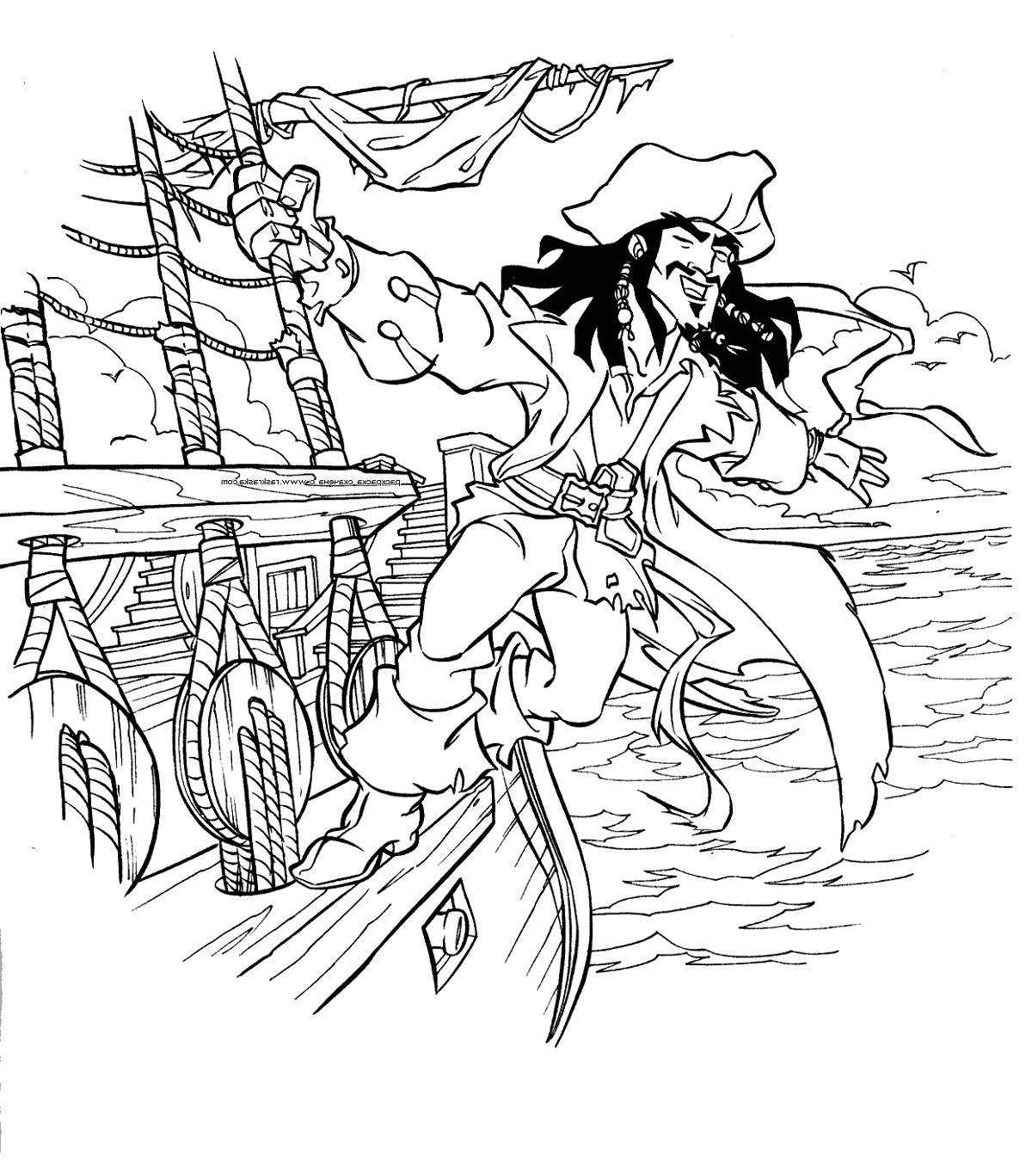 Pirate Coloring Pages Jake And Neverland