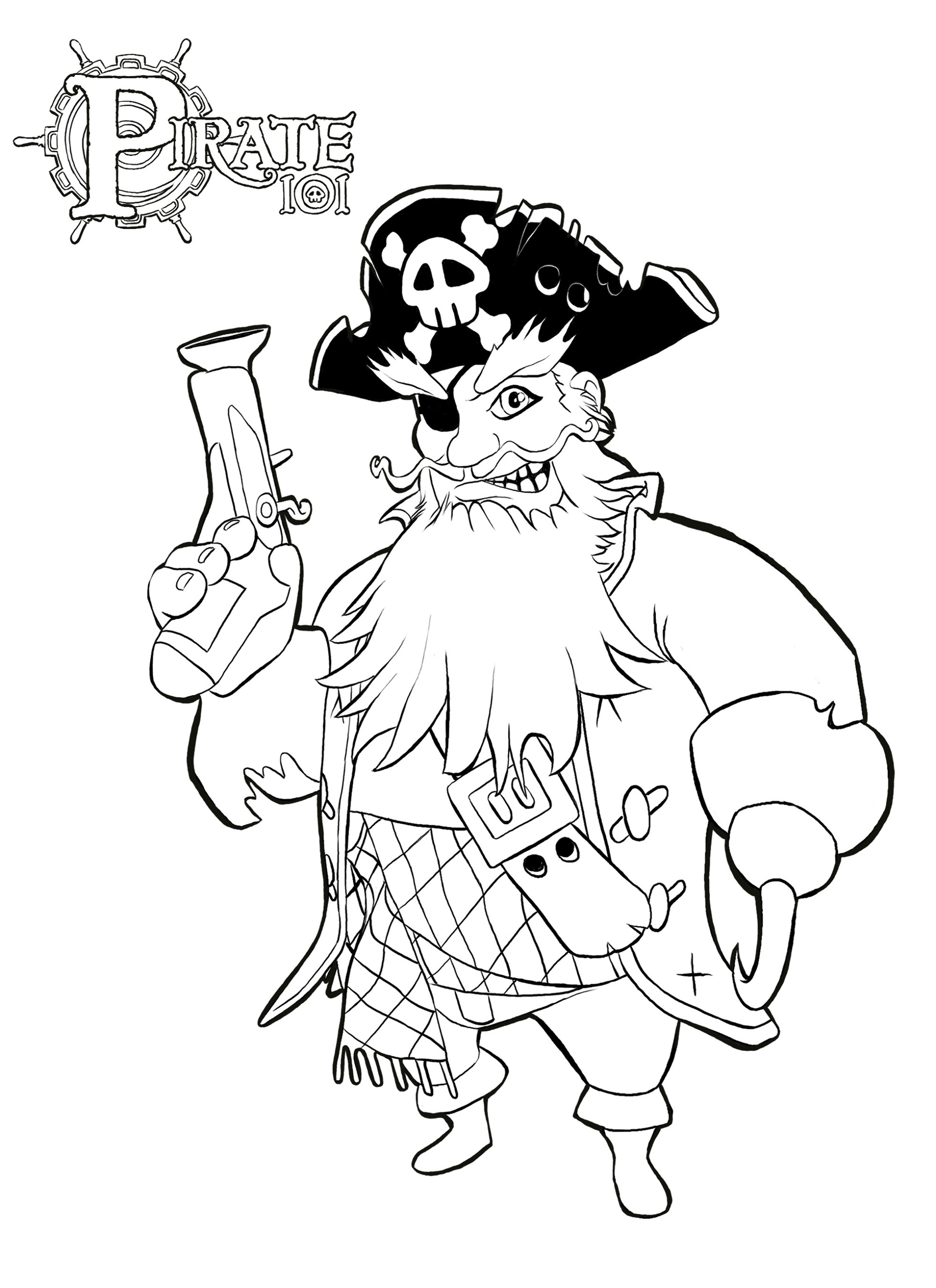 Pirate Coloring Pages Printable