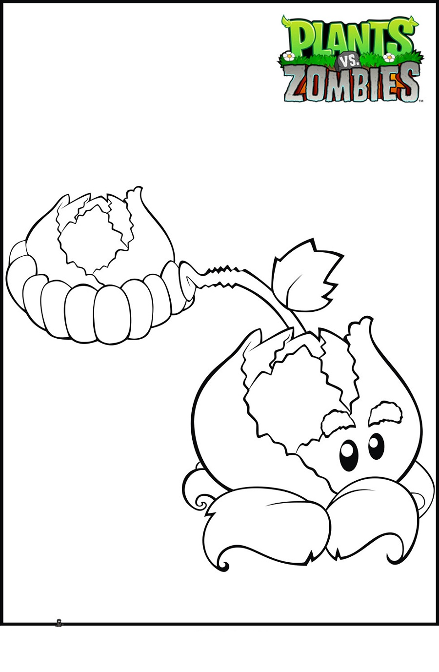 Plants Vs Zombies Coloring Pages Cabbage Pult
