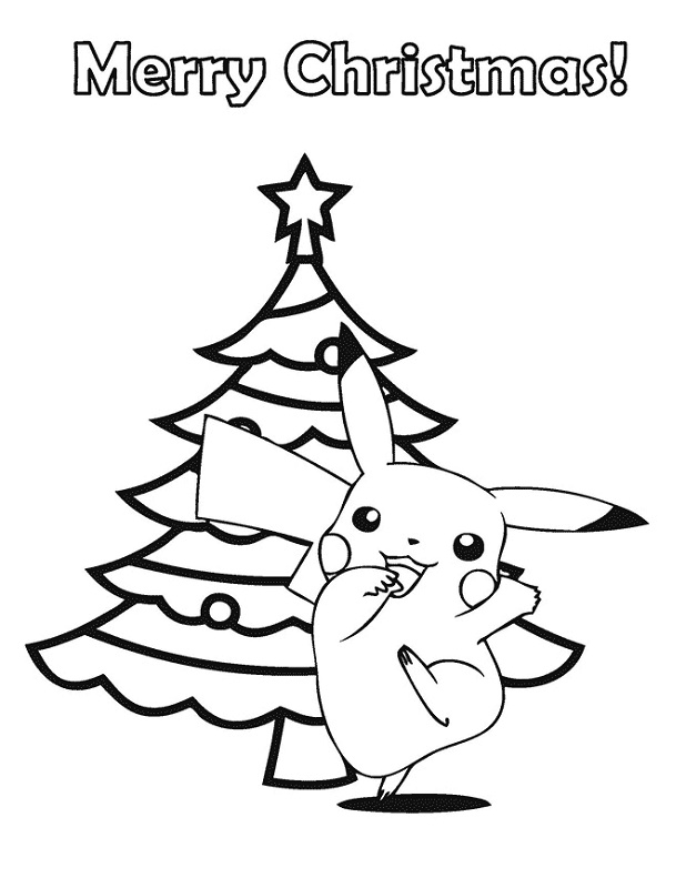 Pokemon Christmas Coloring Pages Pictures