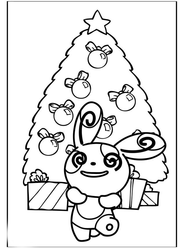 Pokemon Christmas Coloring Pages Printable