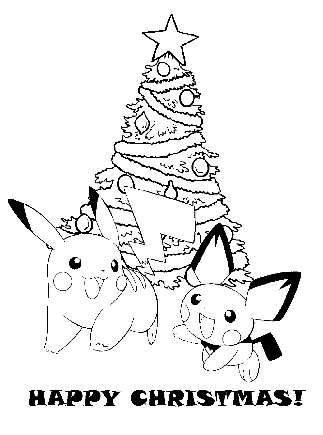 Pokemon Christmas Coloring Pages To Print