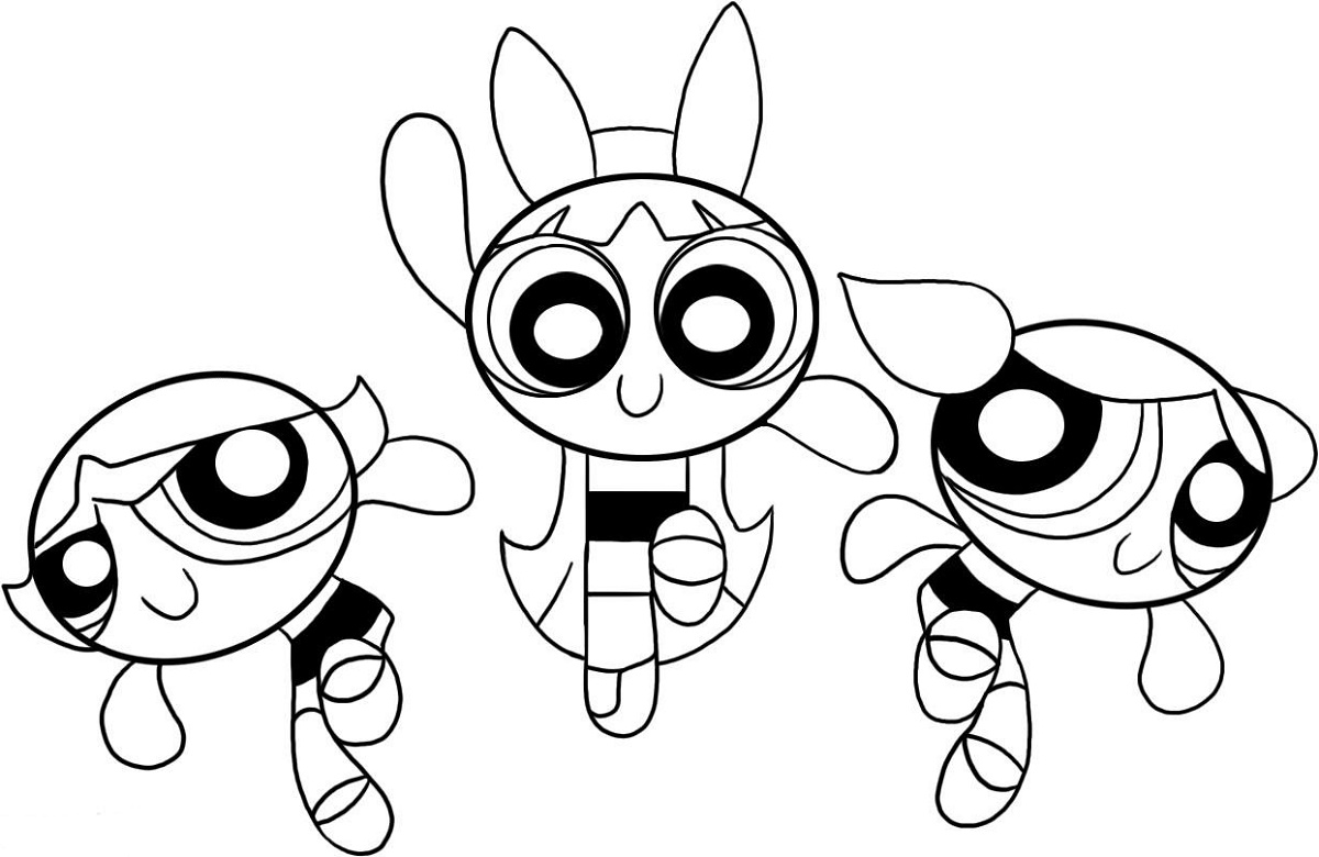 Powerpuff Girls Coloring Pages Printable