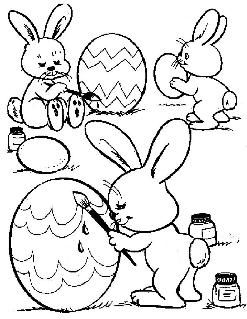 Printable Easter Coloring Pages Bunnies