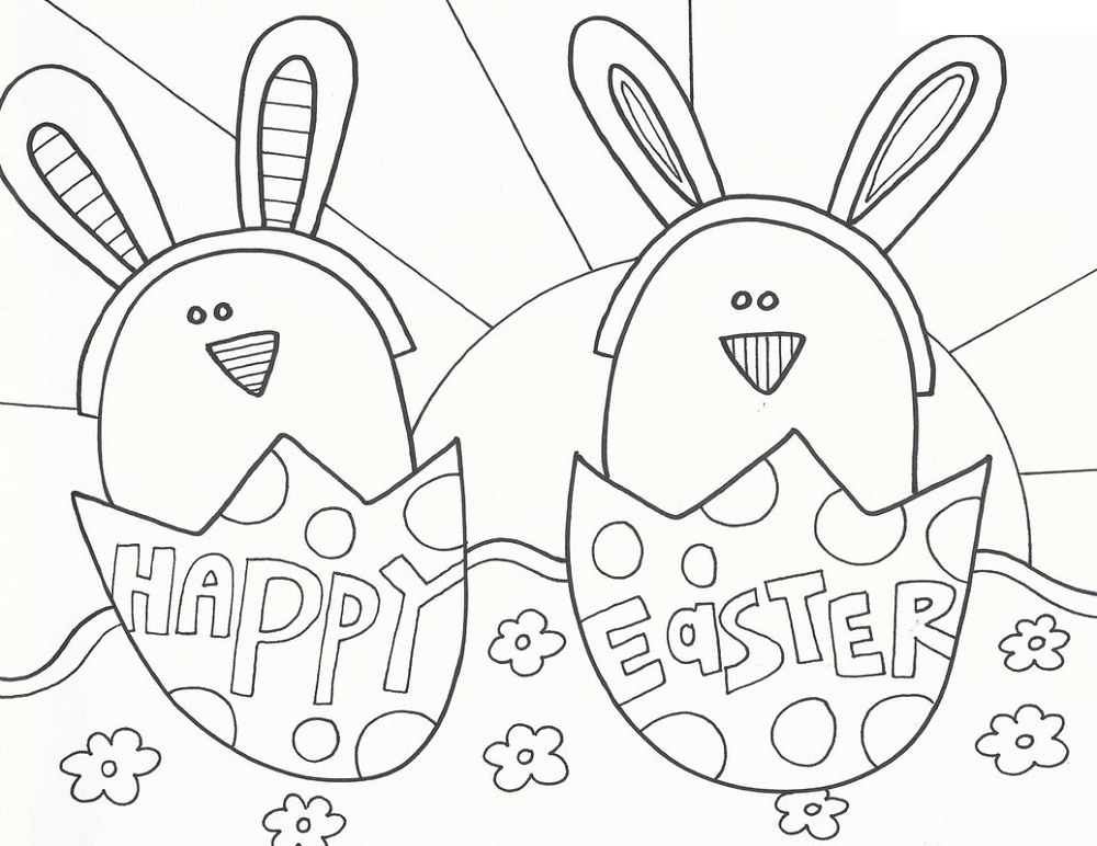 Printable Easter Coloring Pages Easter Eggs