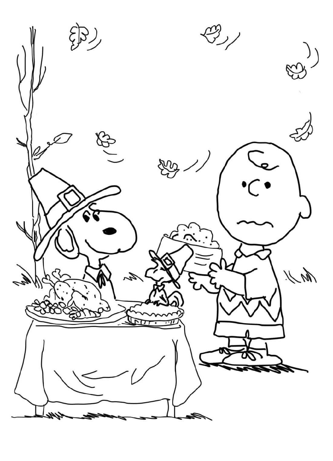 Printable Thanksgiving Coloring Pages Charlie Brown