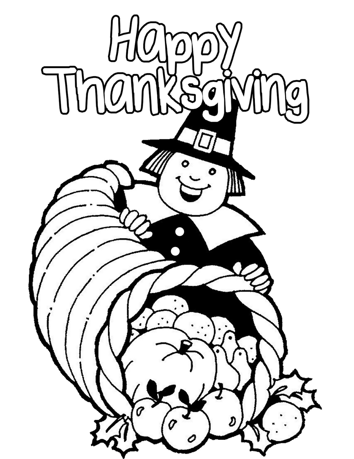 Printable Thanksgiving Coloring Pages Pilgrims