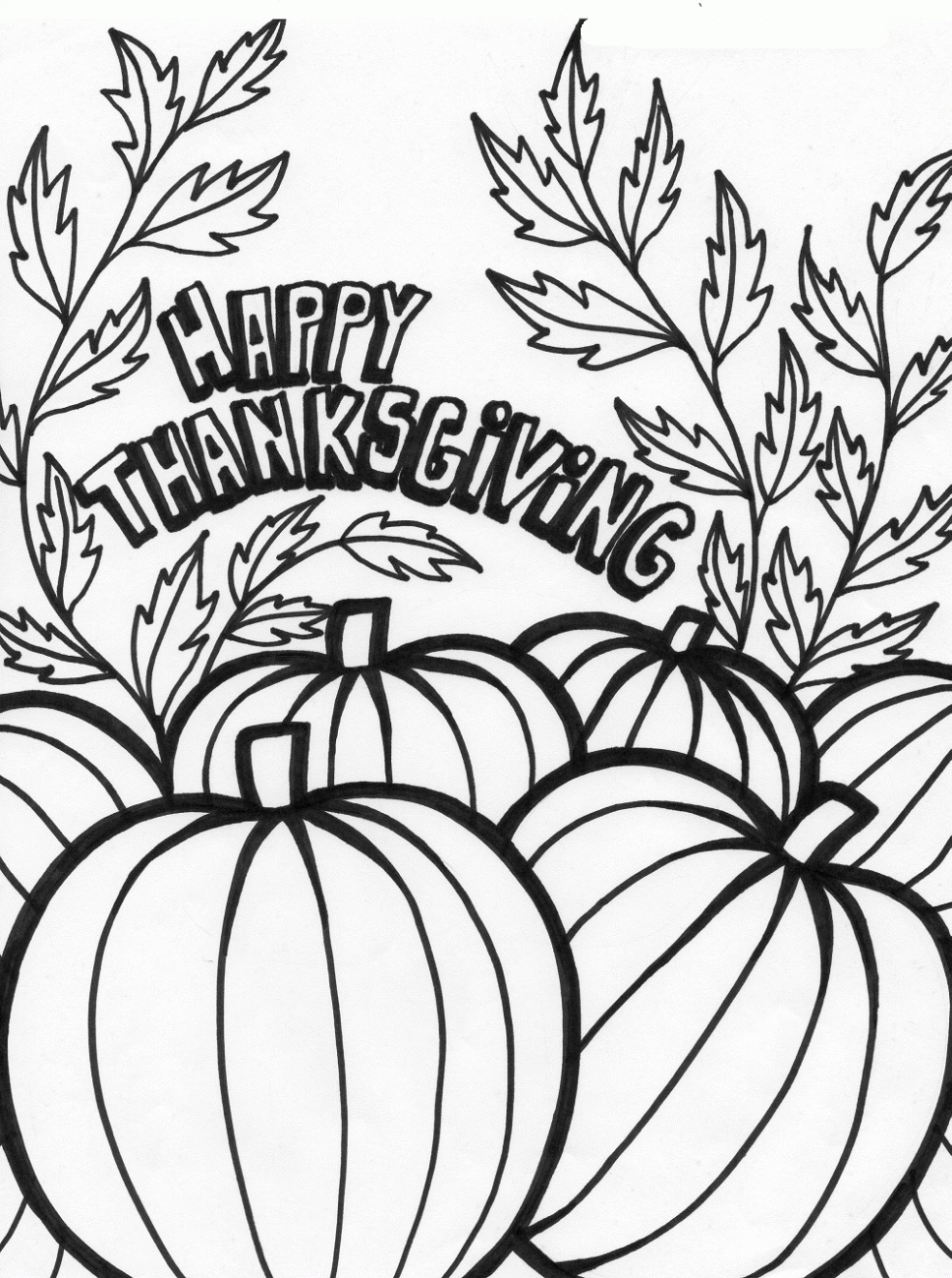 Printable Thanksgiving Coloring Pages Pumpkin