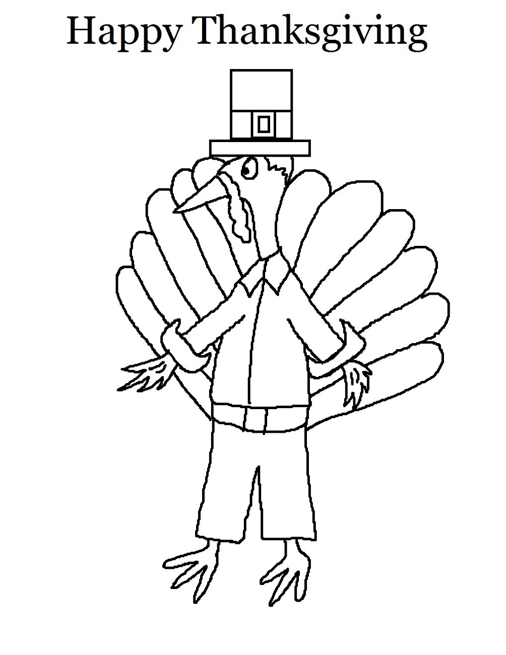 Printable Thanksgiving Coloring Pages Turkey