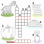 Printable Word Games For Kids Crossword