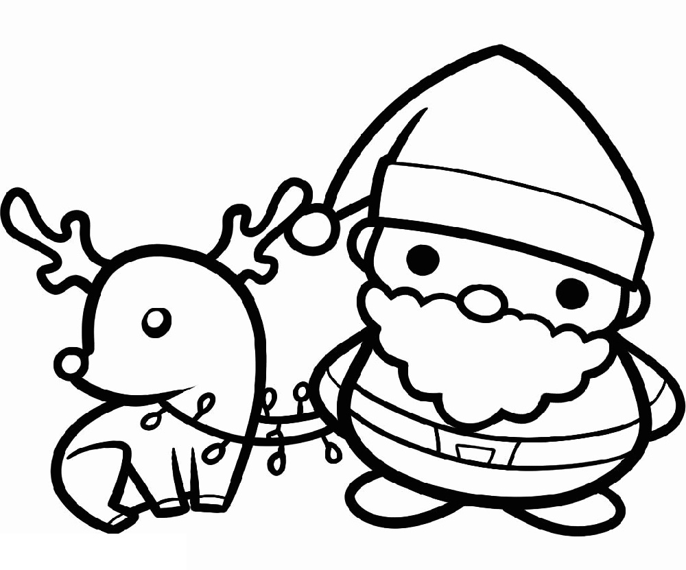 Rudolph Coloring Pages Cute