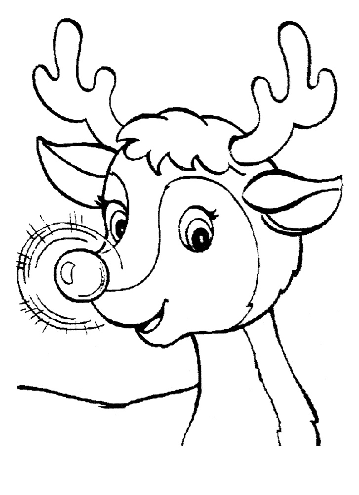 Rudolph Coloring Pages Free