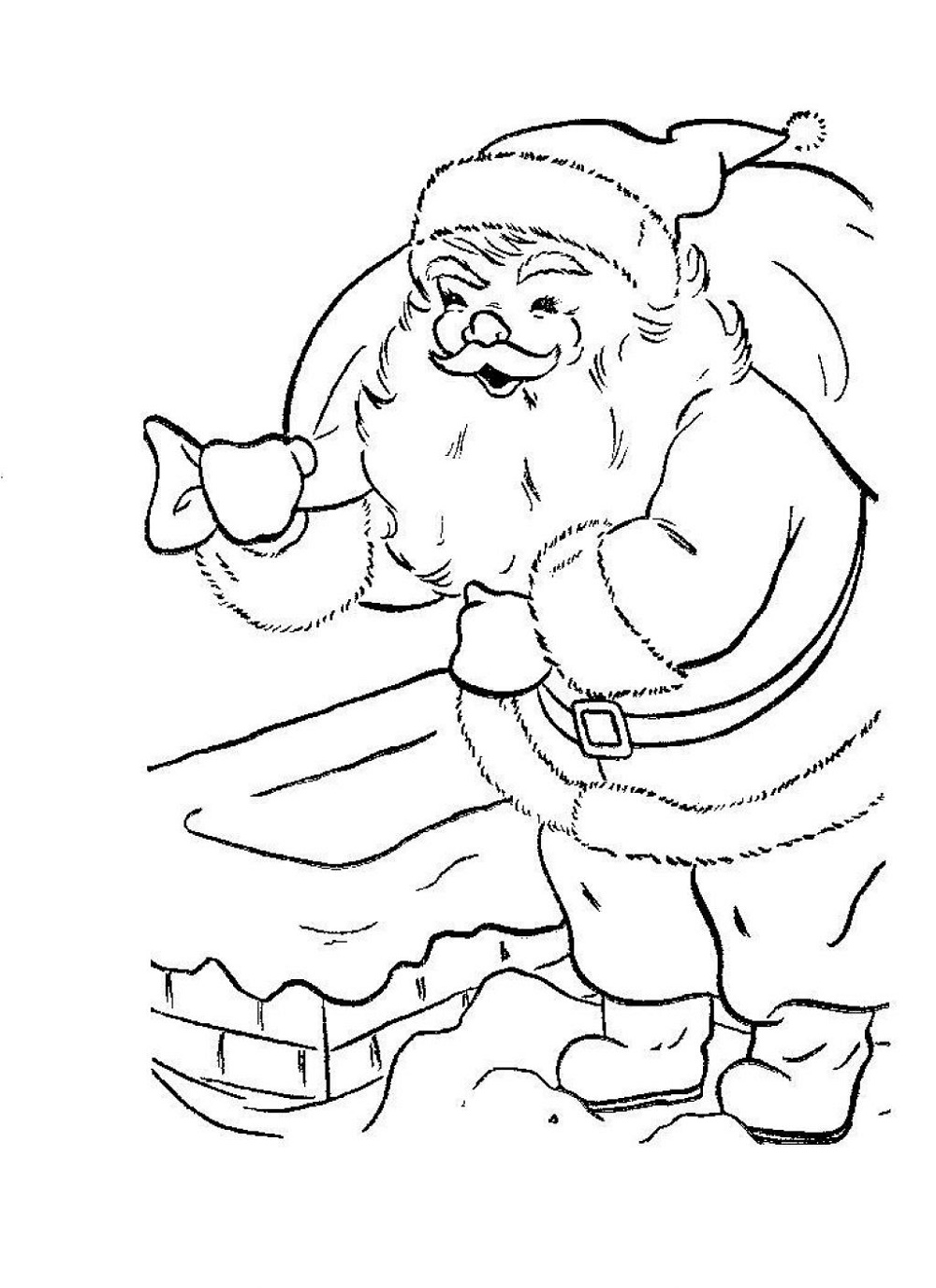 Santa Claus Coloring Pages Christmas