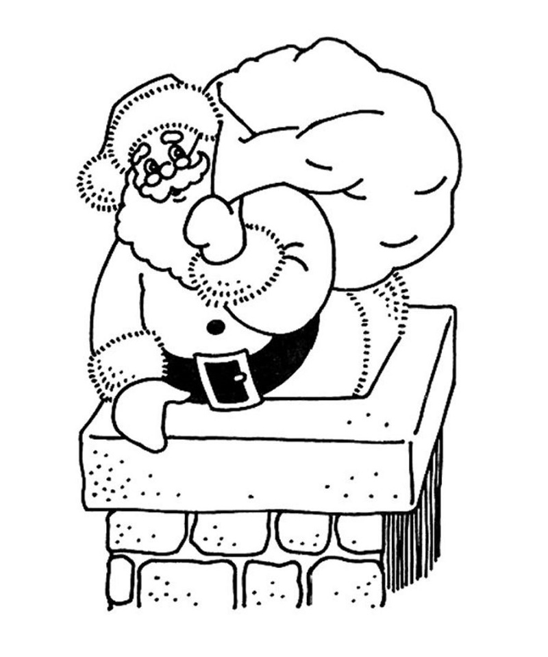 Santa Coloring Pages Free