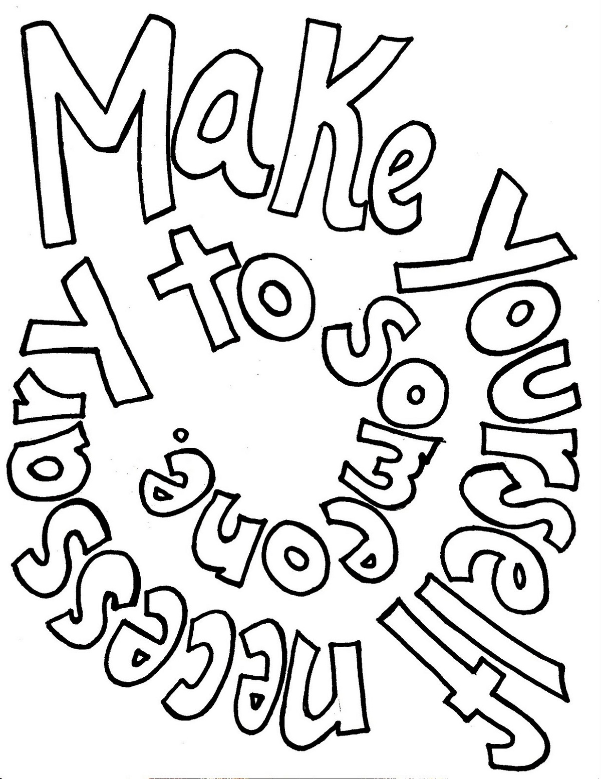 Sayings Coloring Pages Design