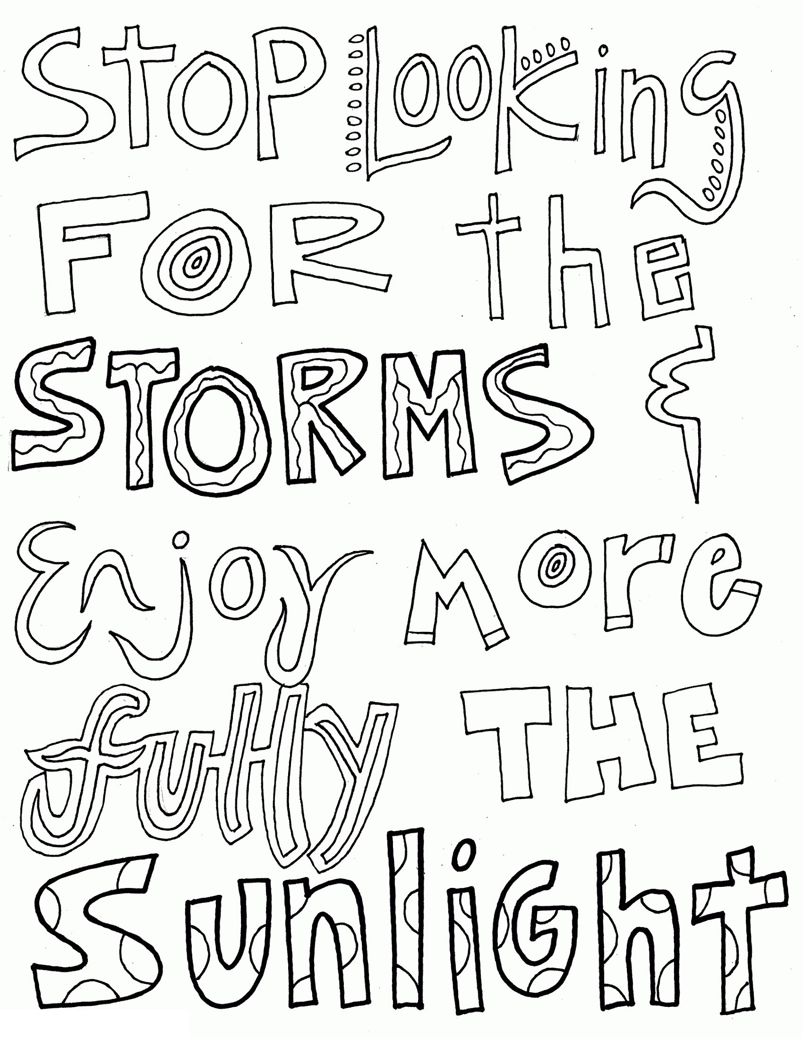 Sayings Coloring Pages Free