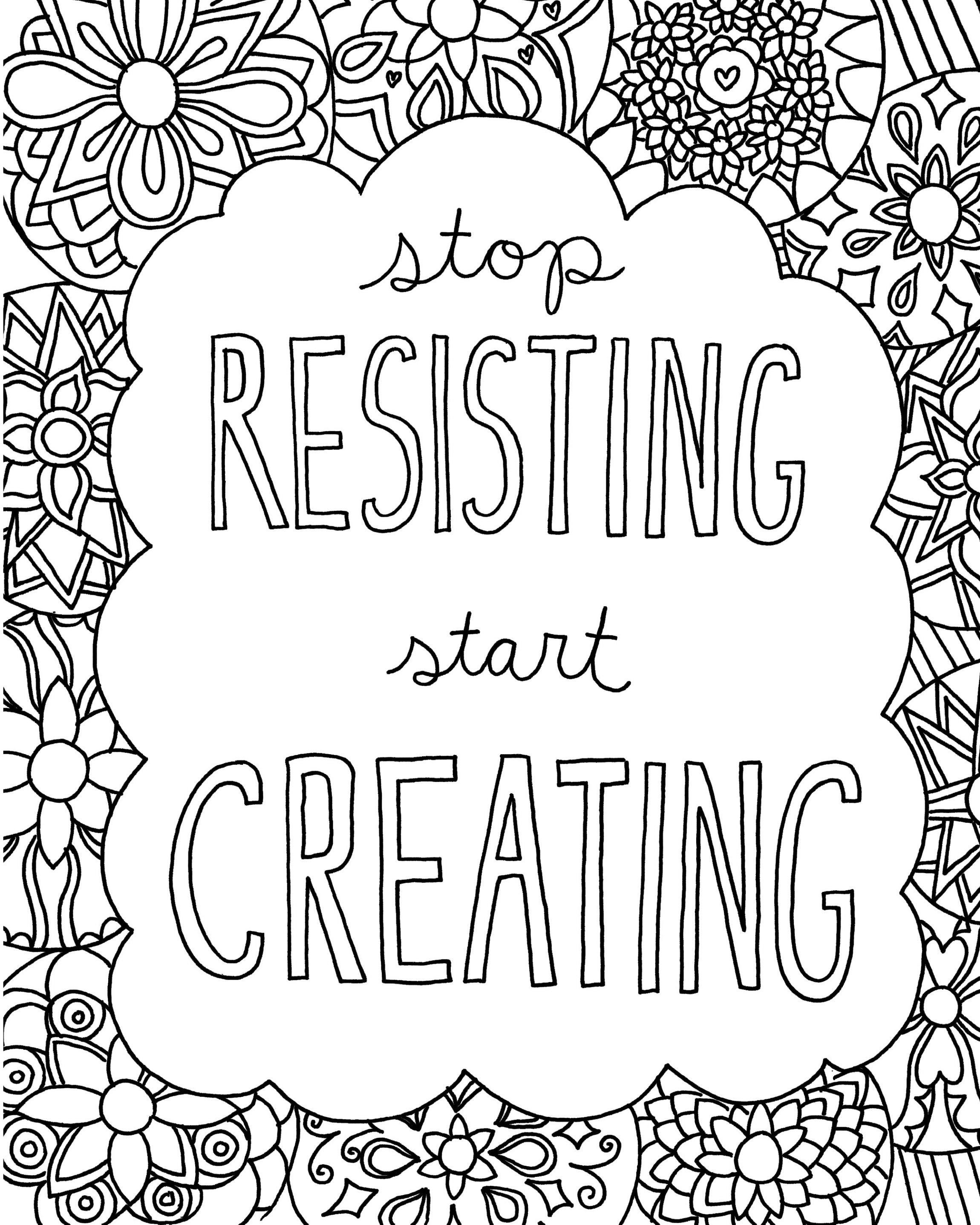 Sayings Coloring Pages Printable