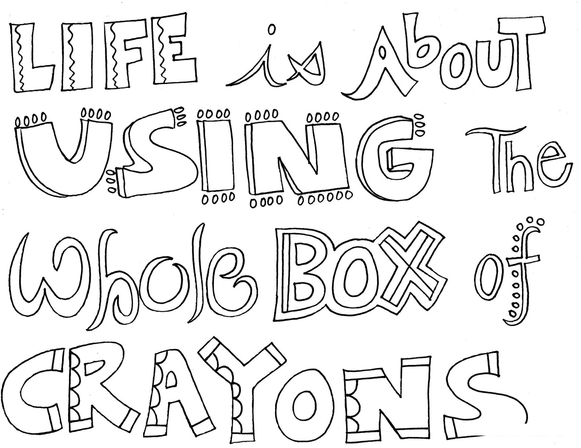 Sayings Coloring Pages To Print