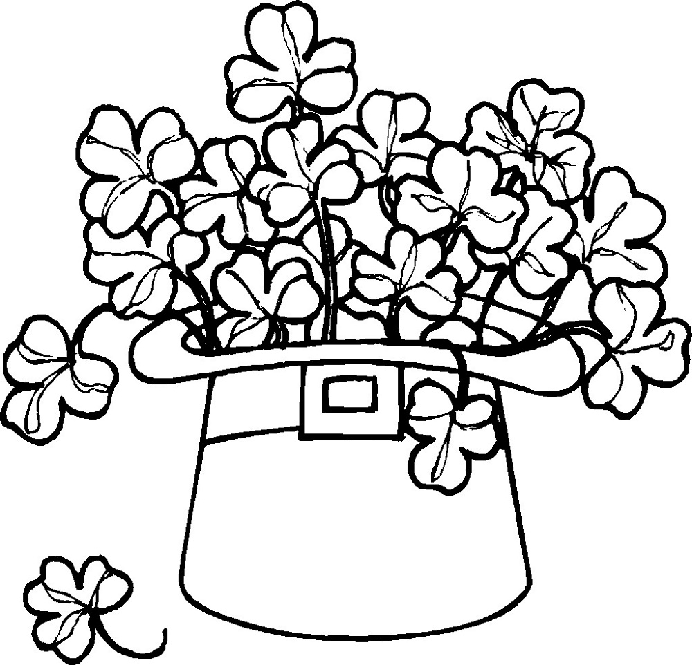 Shamrock Coloring Page To Print