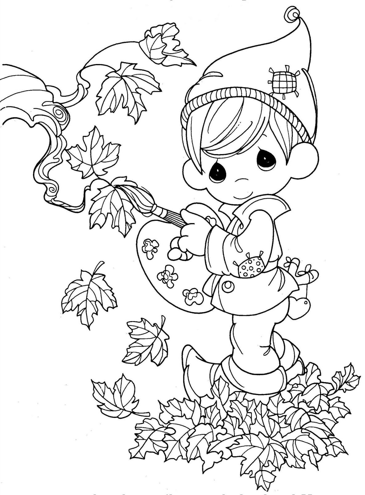 Thanksgiving Coloring Pages Leaves