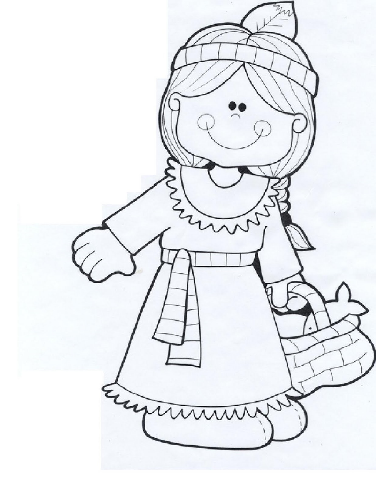 Thanksgiving Coloring Pages Native Americans