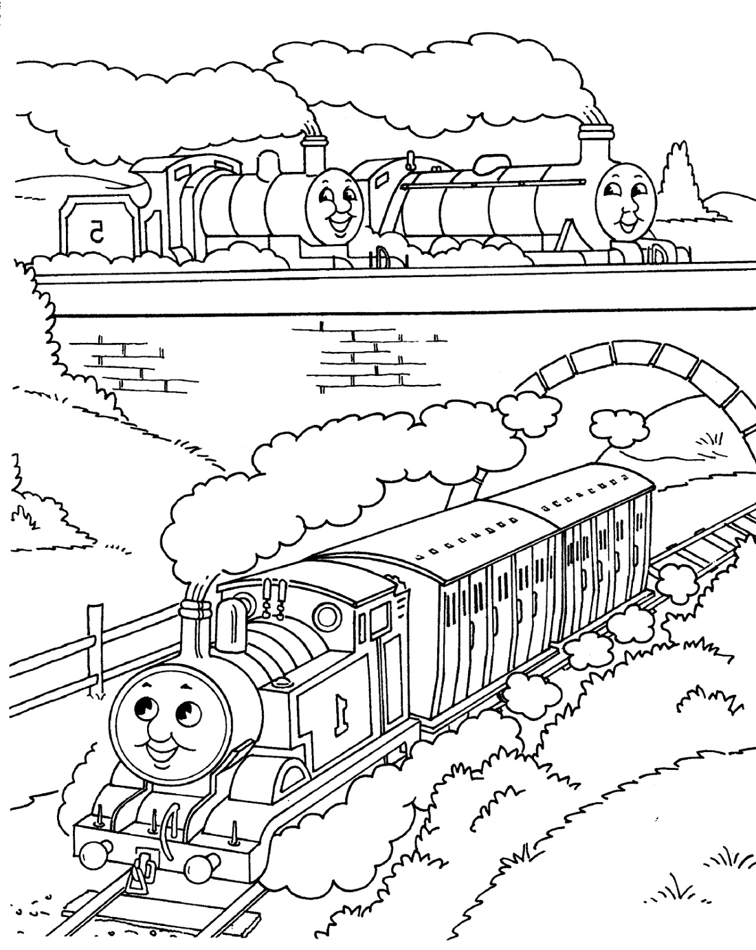 Thomas Coloring Pages Free