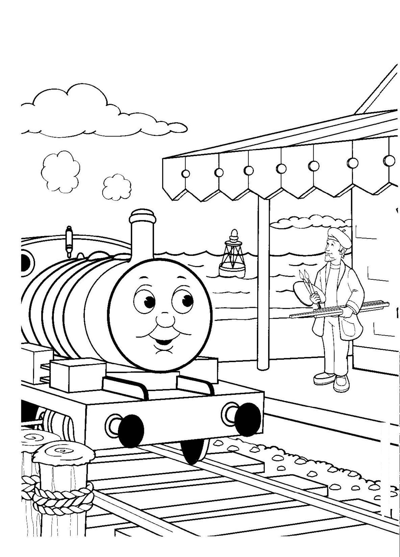 Thomas Coloring Pages Thomas The Train