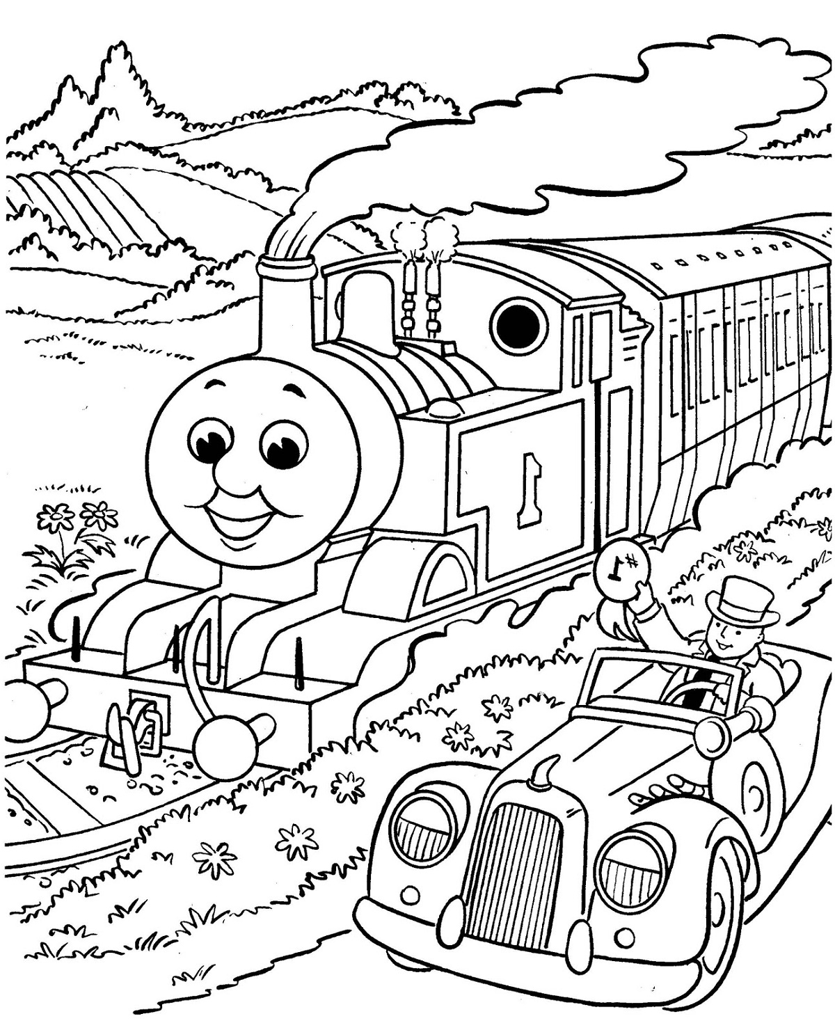 Thomas Coloring Pages To Print