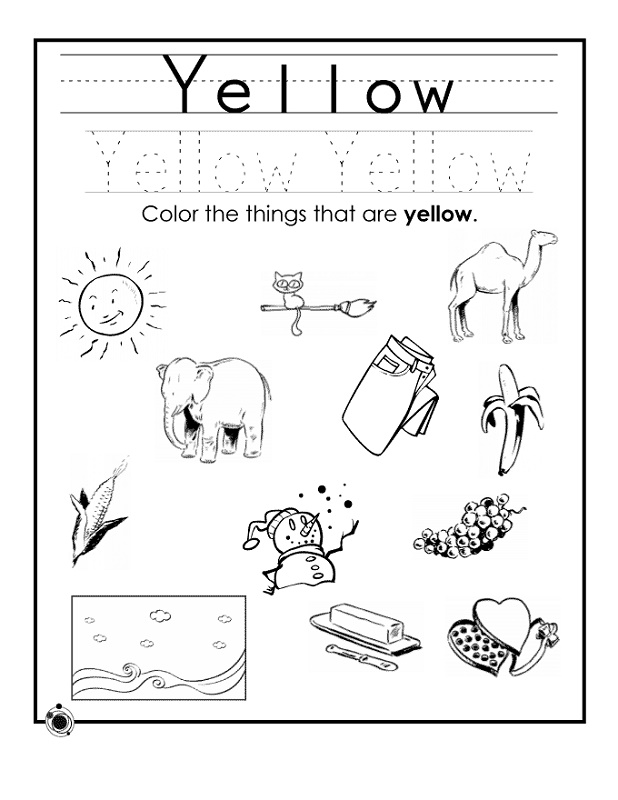 Toddler Learning Worksheets Colors