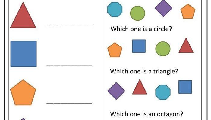 Toddler Learning Worksheets Shapes