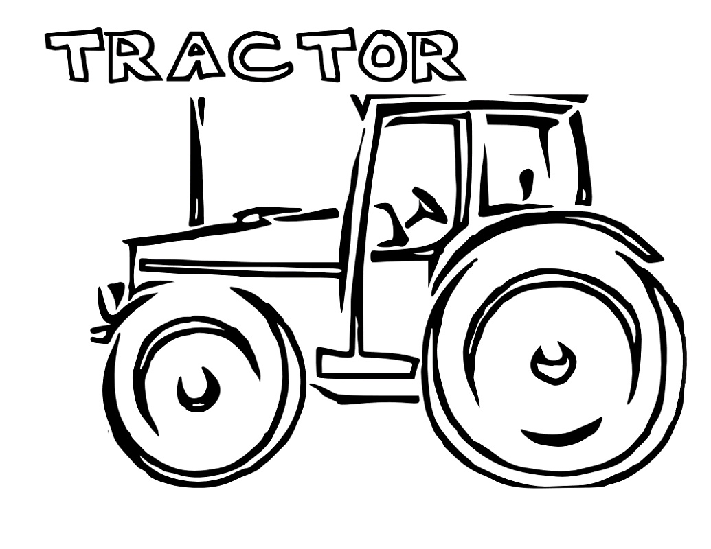 Tractor Coloring Pages For Kids – K5 Worksheets