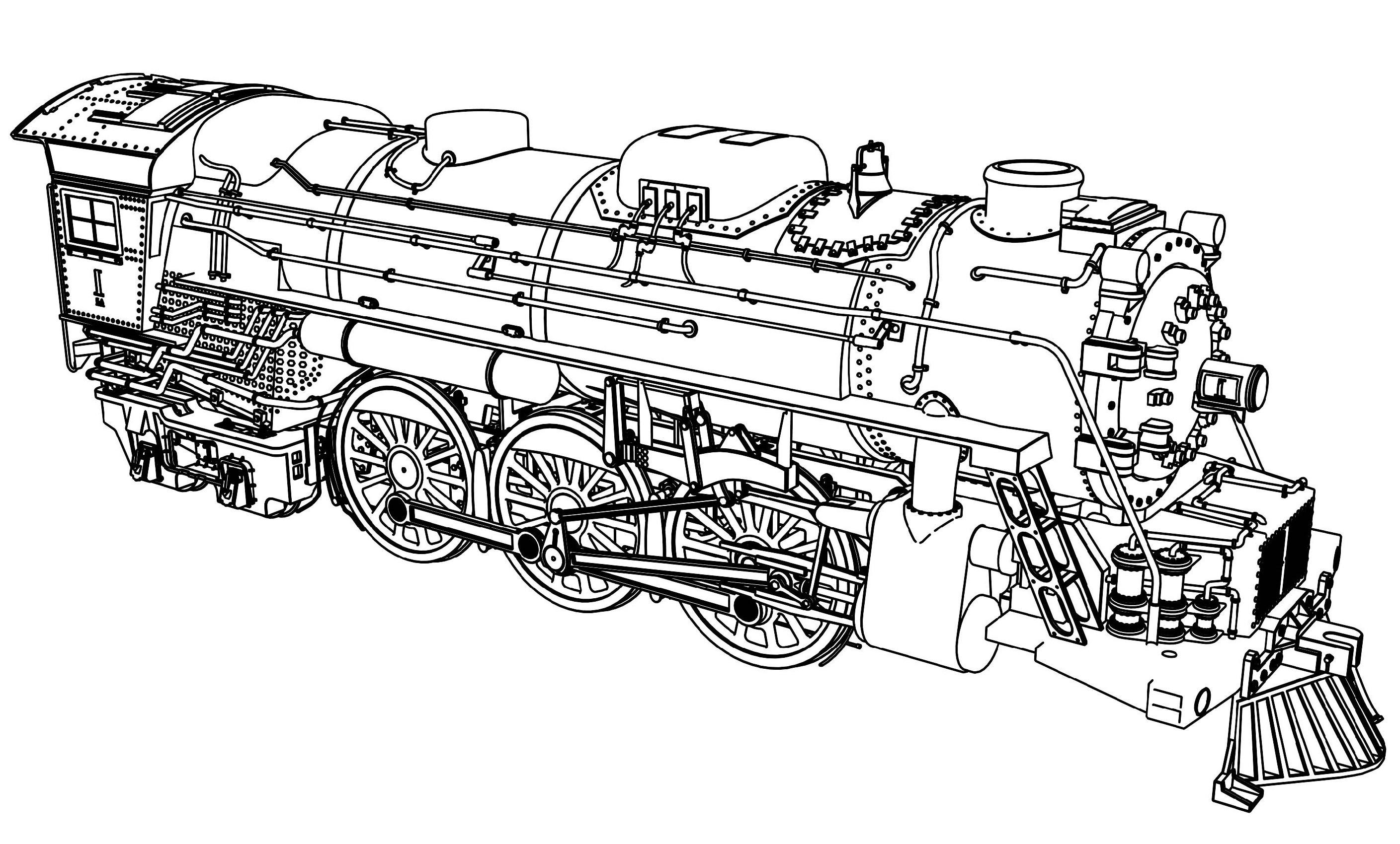 Train Coloring Pages Detailed