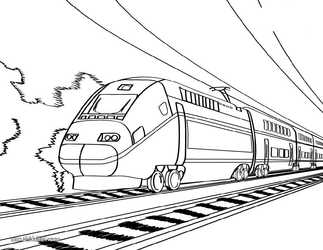 Train Coloring Pages Free