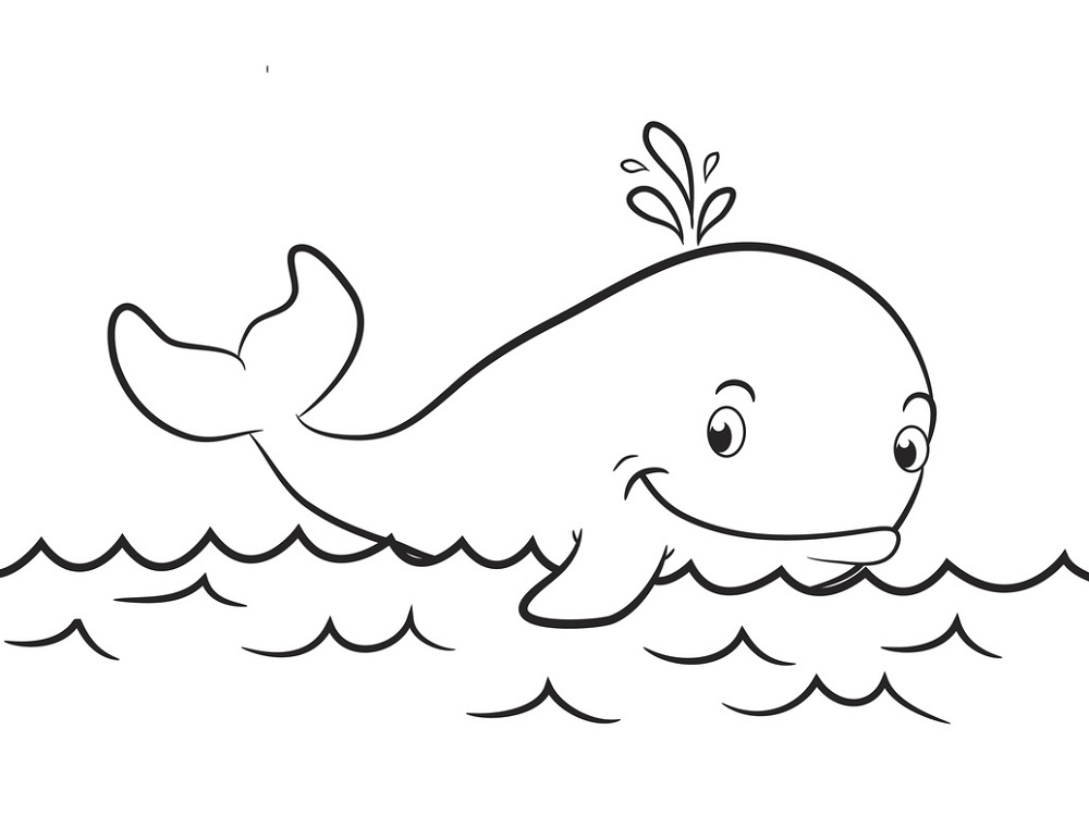 Whale Coloring Pages For Kids