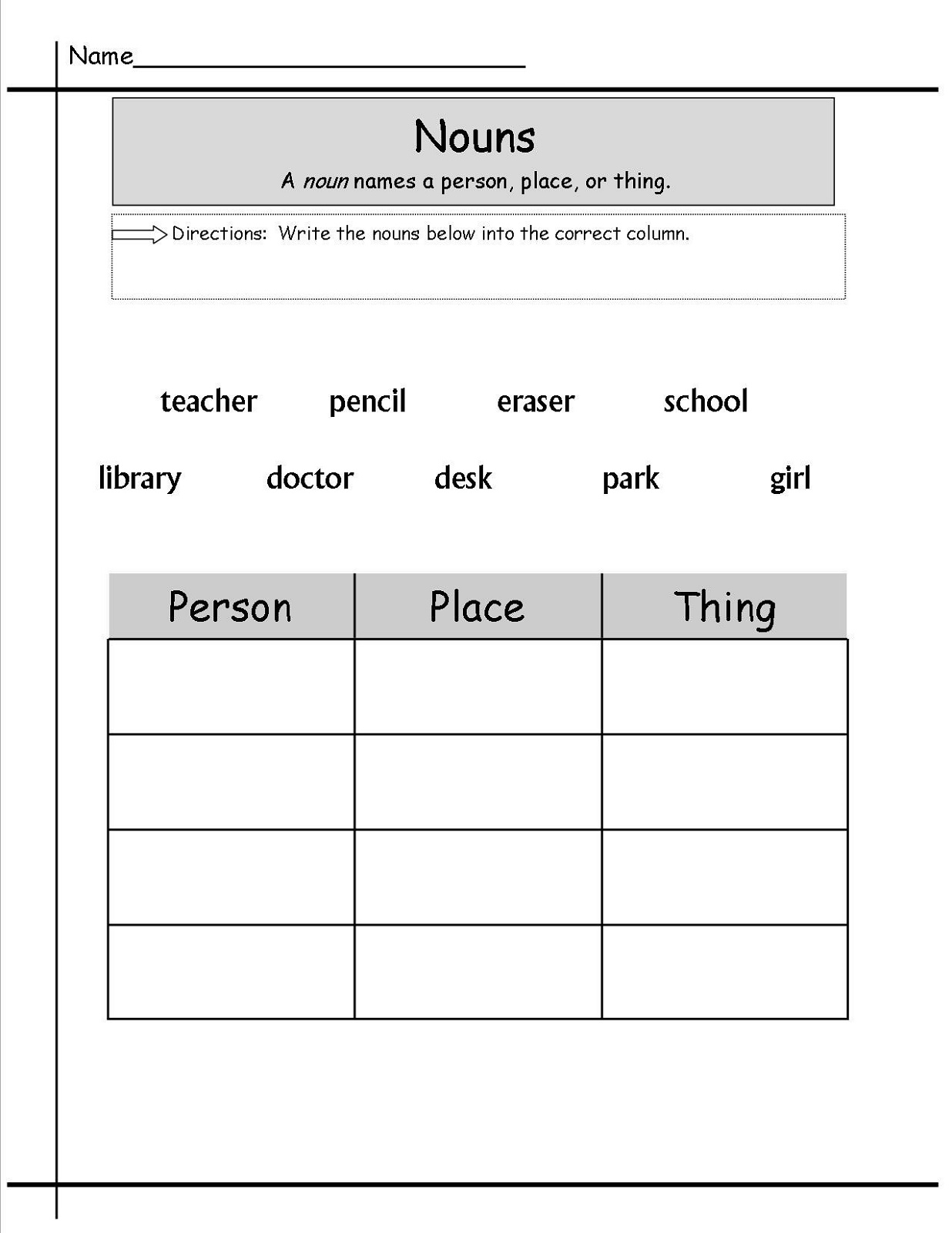 Worksheets-For-Grade-1-English