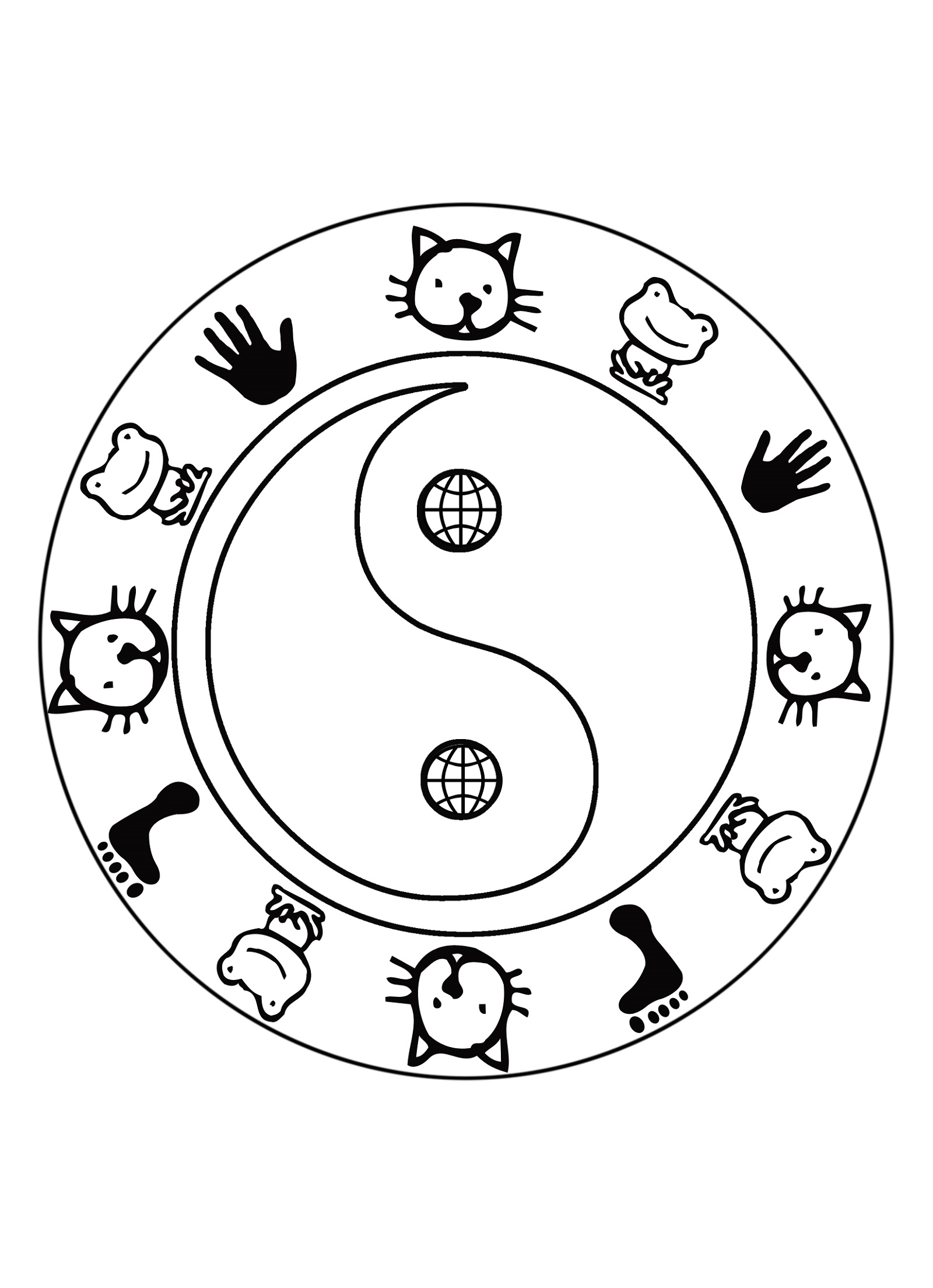 Yin Yang Coloring Pages For Kids