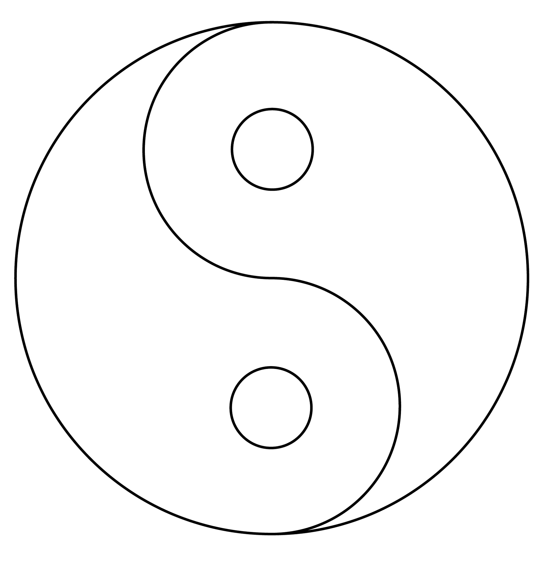 Yin Yang Coloring Pages Free