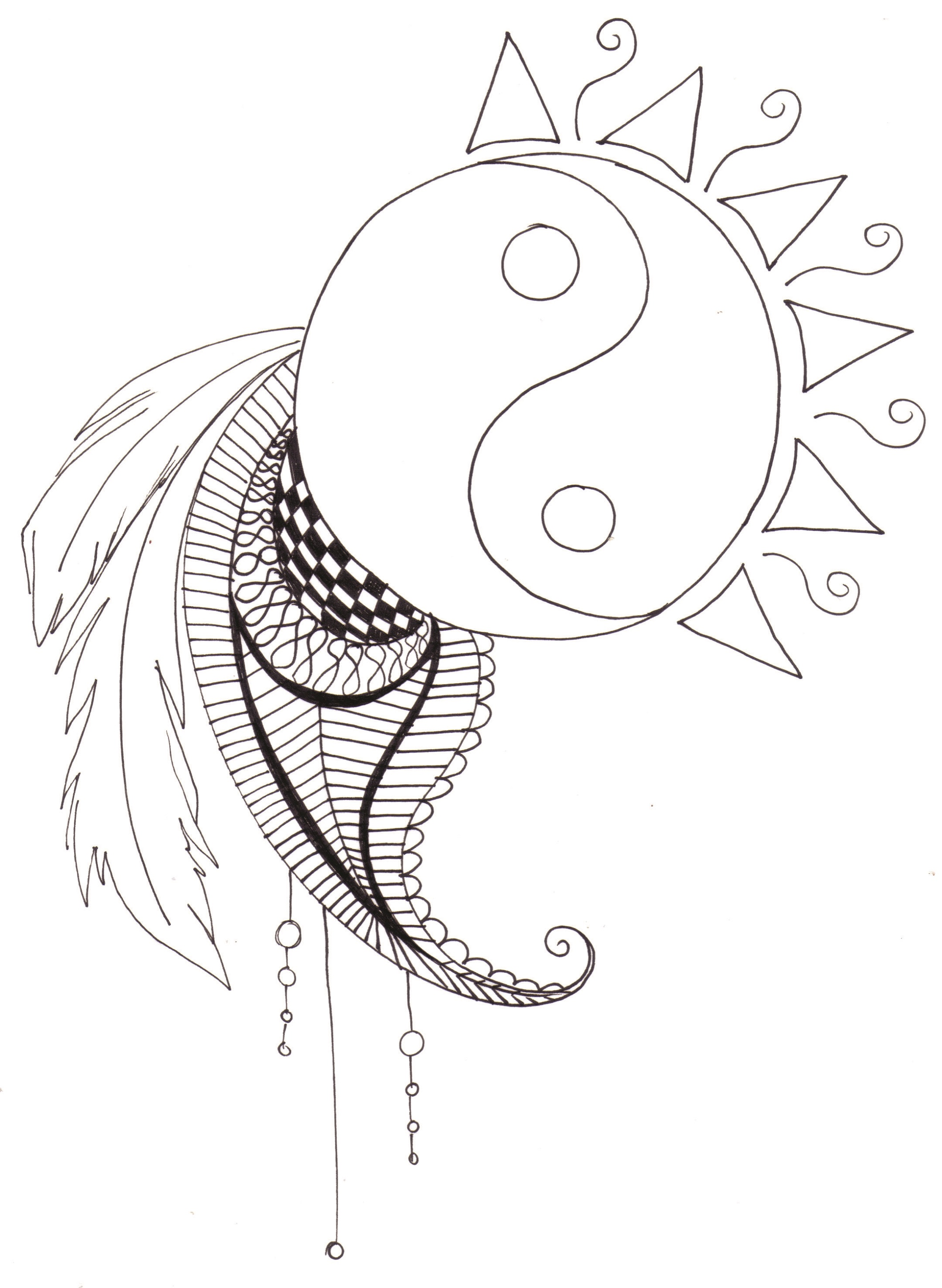 Yin Yang Coloring Pages Printable