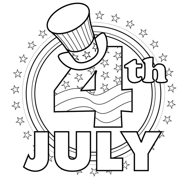 4th Of July Coloring Pages American Independent Day