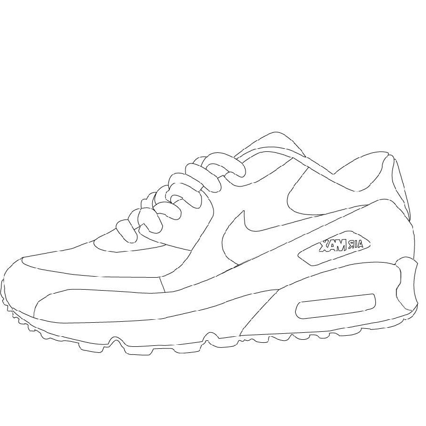 Air Jordan Shoes Coloring Pages